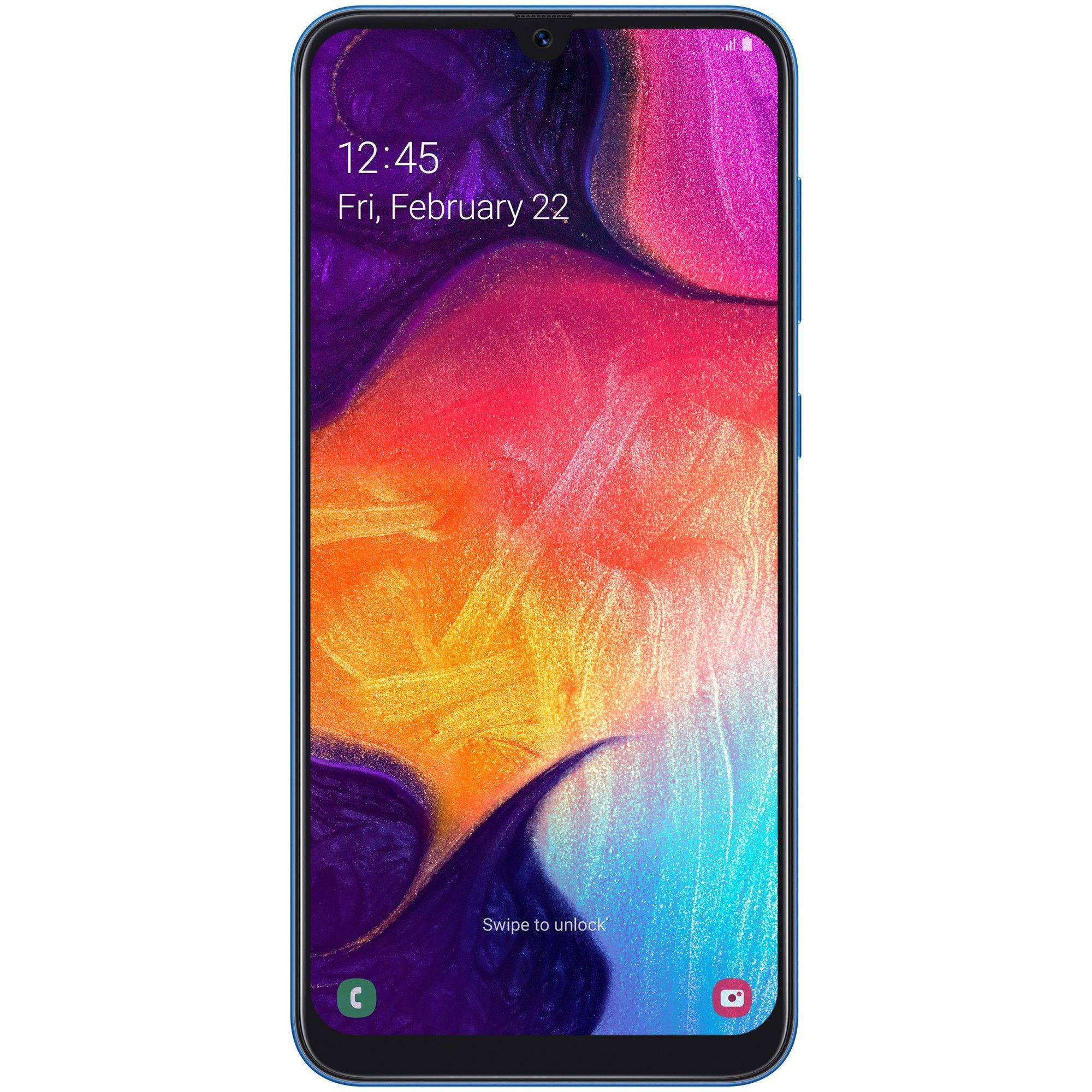 Telefon Mobil Samsung Galaxy A50 128GB Flash 4GB RAM Dual SIM 4G Blue