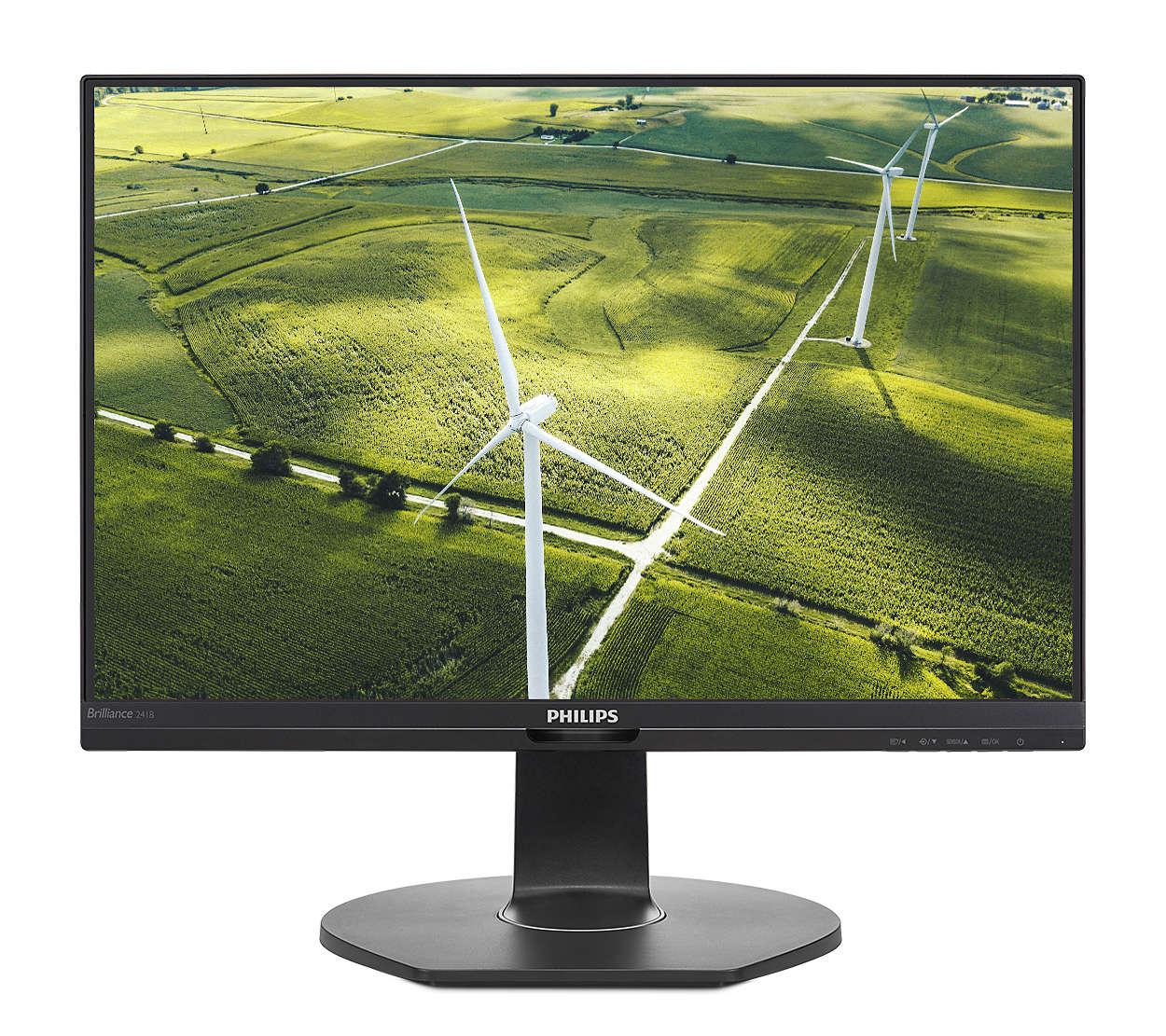 Monitor LED Philips 241B7QGJEB/00 23.8 Full HD 5ms Negru