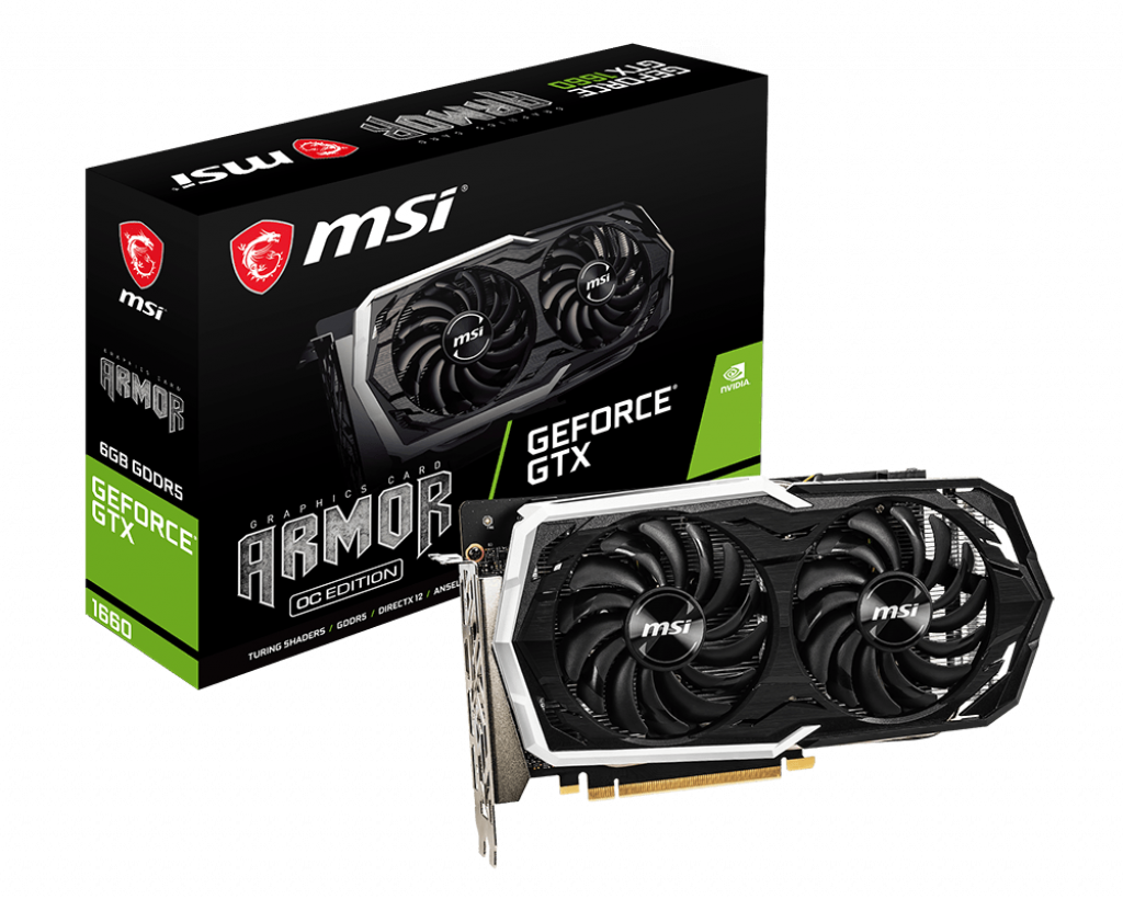 Placa Video MSI GeForce GTX 1660 ARMOR 6G OC 6GB GDDR5 192 biti