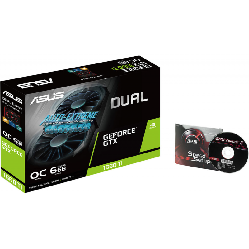 Placa Video ASUS GeForce DUAL GTX 1660 Ti OC 6GB GDDR6 192 biti