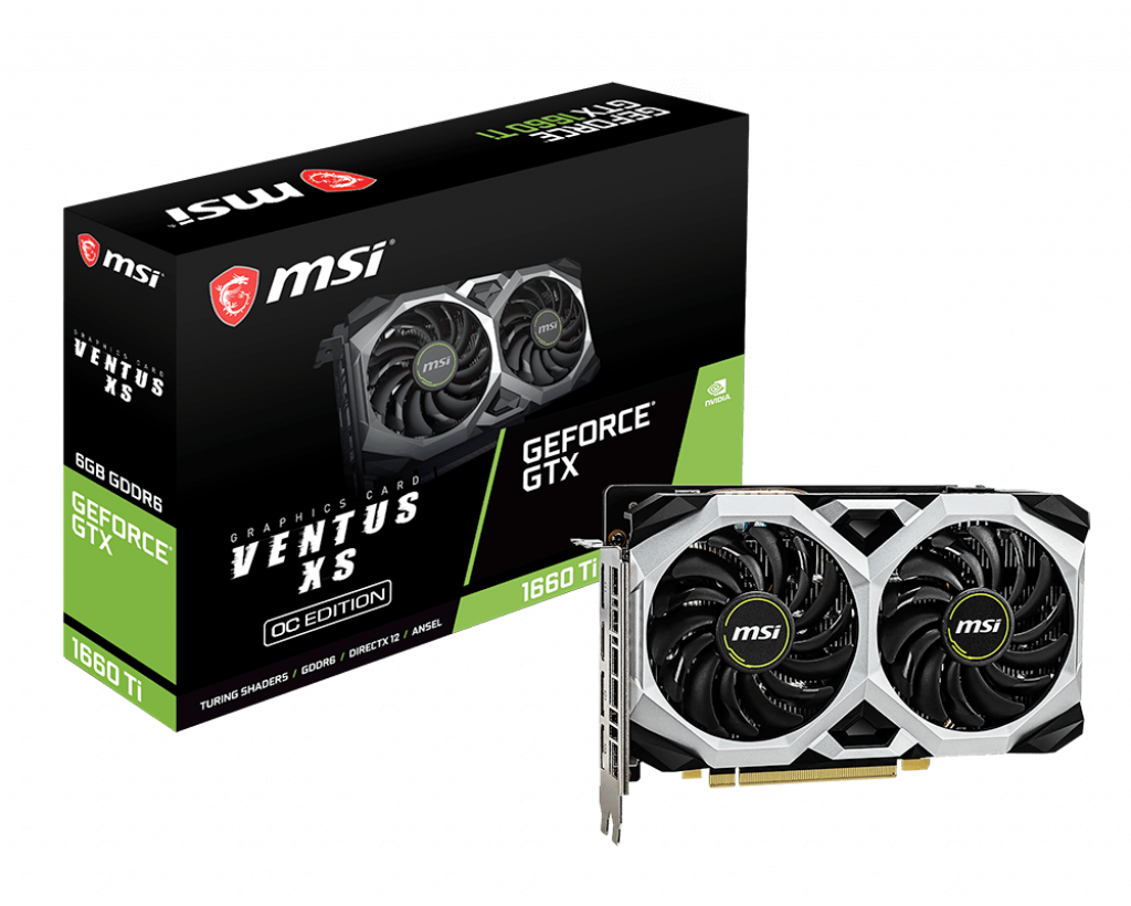 Placa Video MSI GeForce GTX 1660 Ti VENTUS XS 6G OC 6GB GDDR5 192 biti