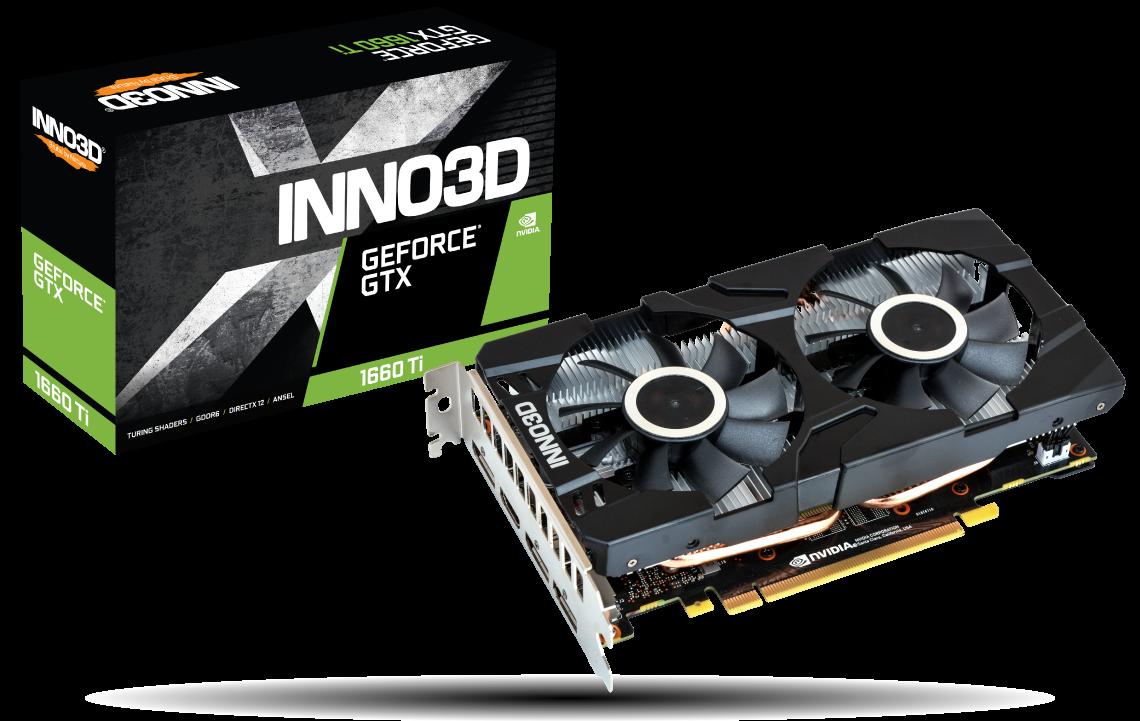 Placa Video Inno3D GeForce GTX 1660 Ti Twin X2 6GB GDDR6 192 biti