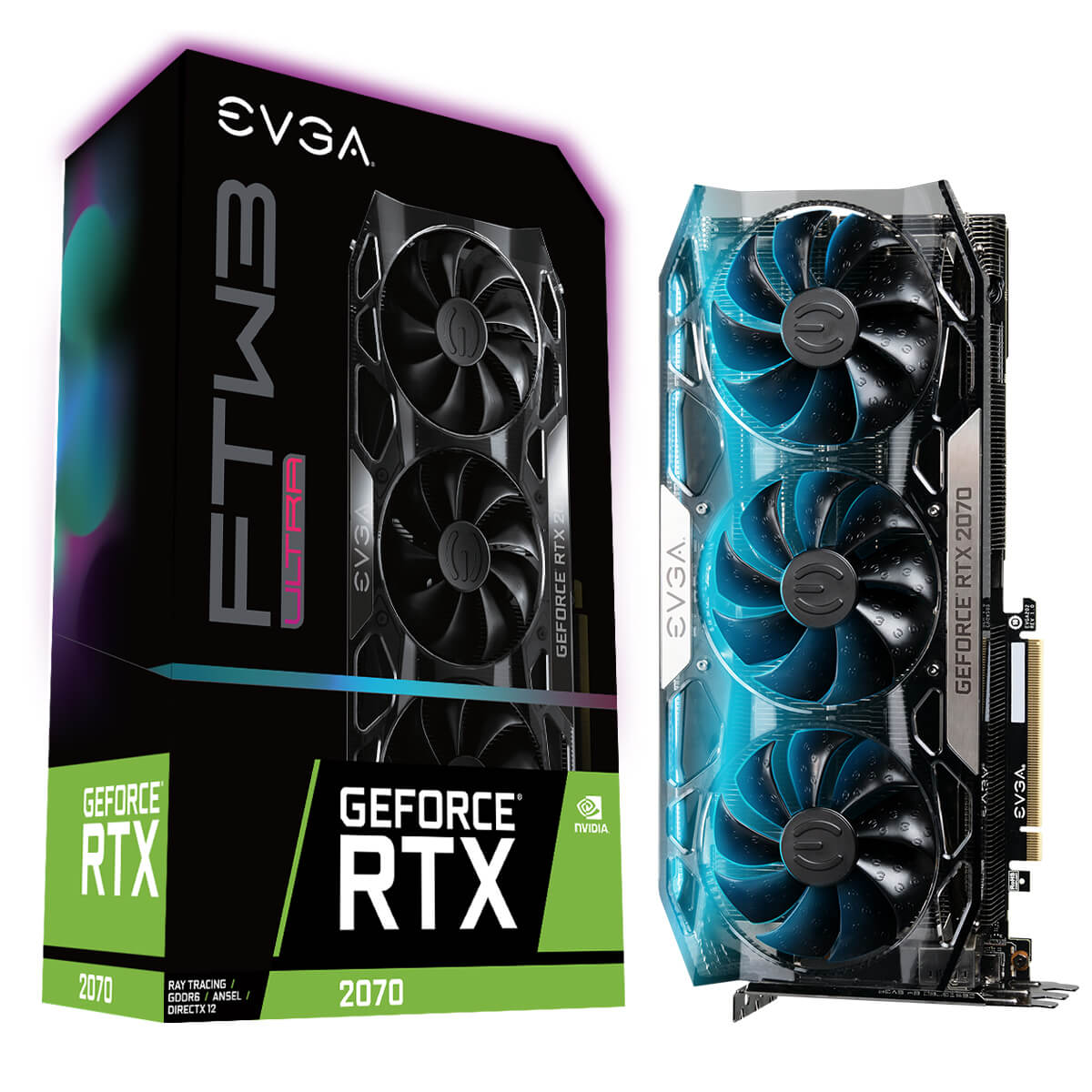 Placa Video EVGA GeForce RTX 2070 FTW3 ULTRA GAMING 8GB GDDR6 256 biti RGB LED