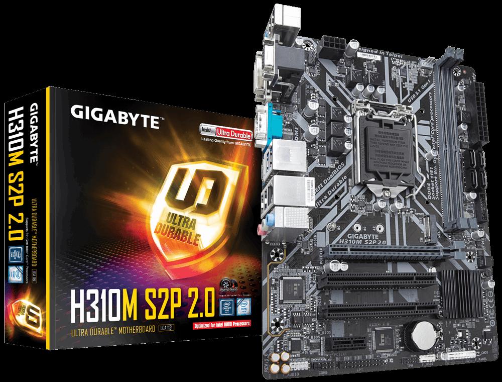 Placa de baza Gigabyte H310M S2P 2.0 Socket 1151 v2