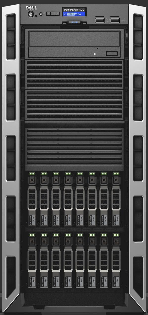 Server Dell PowerEdge T430 Intel Xeon E5-2620 v4 16GB RAM 120GB SSD 750W Single Hot Plug iDRAC8 Basic