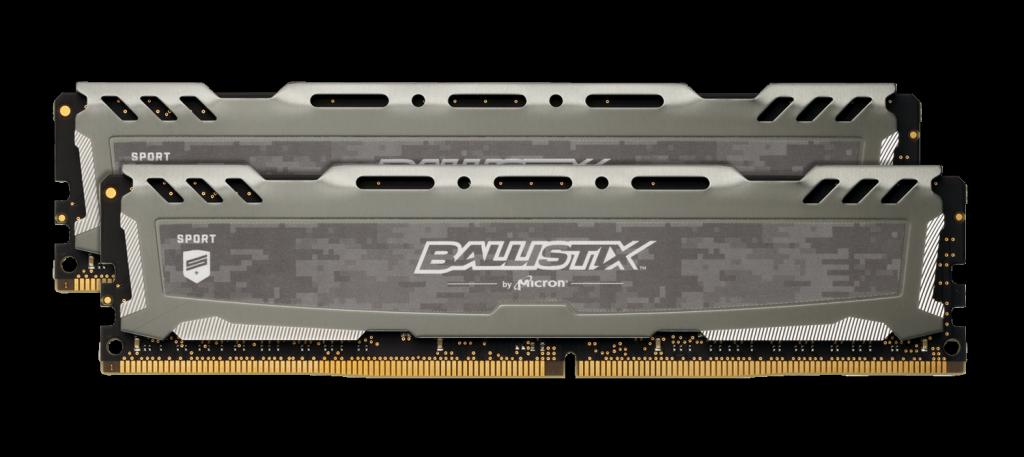 Memorie Desktop Crucial Ballistix Sport LT Gray 16GB(2 x 8GB) DDR4 3000MHz CL15