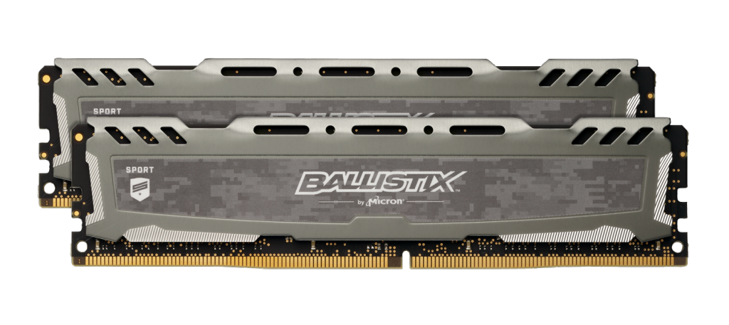 Memorie Desktop Crucial Ballistix Sport LT Gray 8GB(2 x 4GB) DDR4 2666MHz CL16