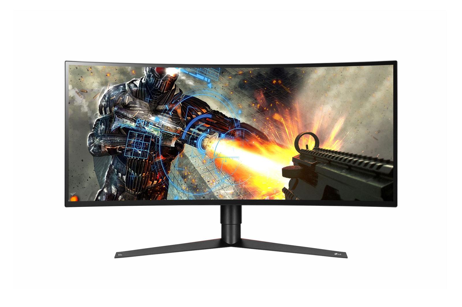 Monitor LED LG 34GK950G-B 34 Curbat Ultrawide QHD Negru