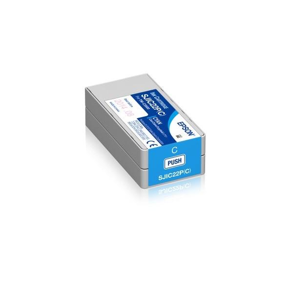 Cartus Inkjet Epson SJIC22P(C) Cyan