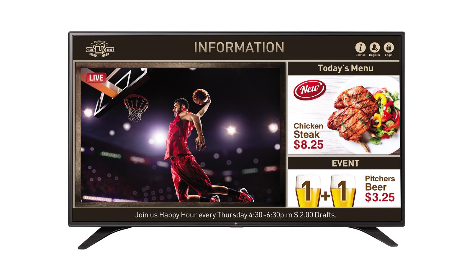 Televizor LED LG 55LV640S 139cm Full HD Negru