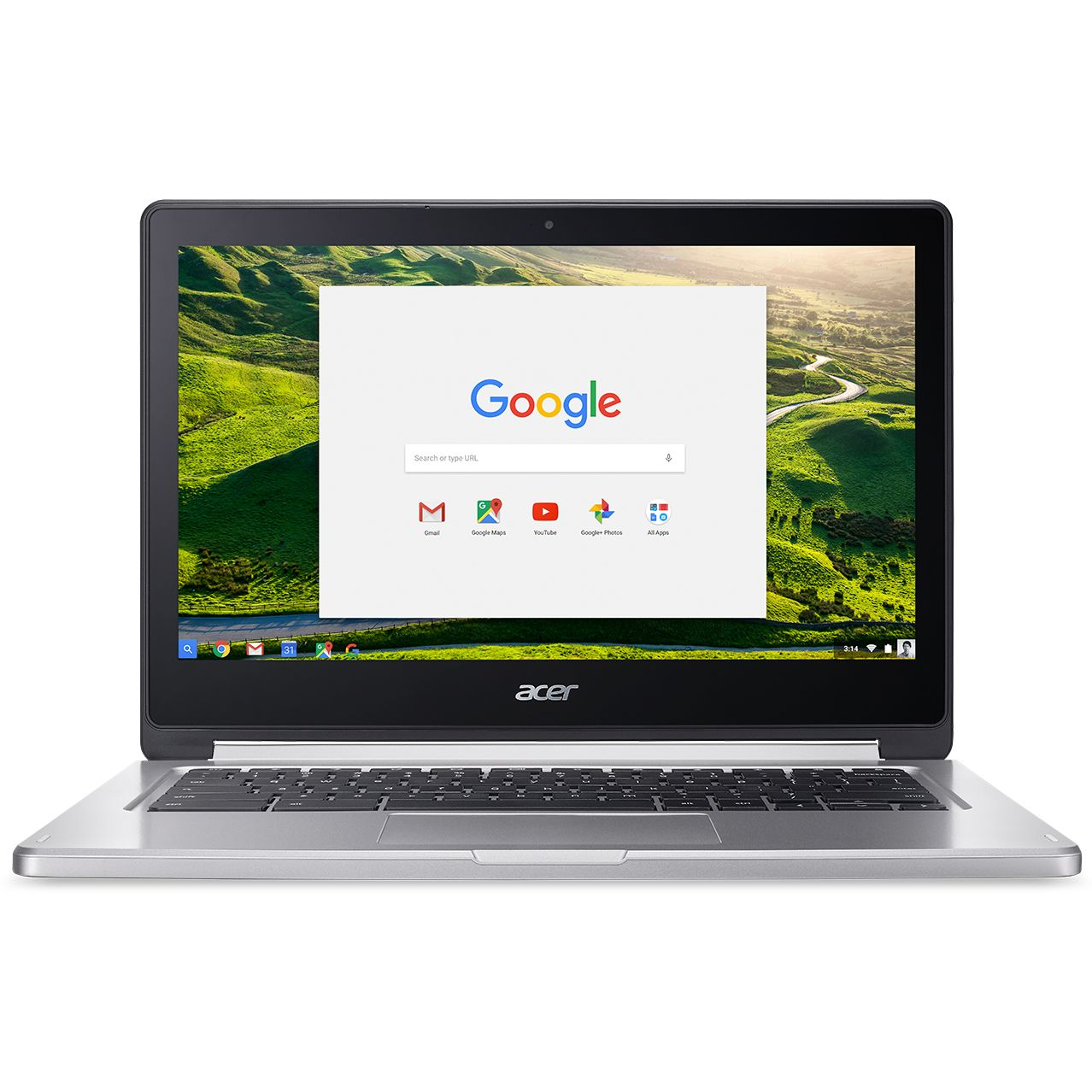 Ultrabook Acer Chromebook CB5-312T 13 Full HD Touch MT8173 RAM 4GB eMMC 64GB Chrome OS Argintiu