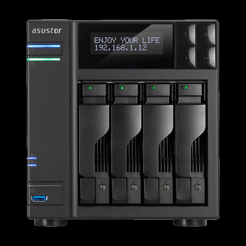 NAS Asustor AS6404T 2xGigabit 4-bay fara HDD-uri
