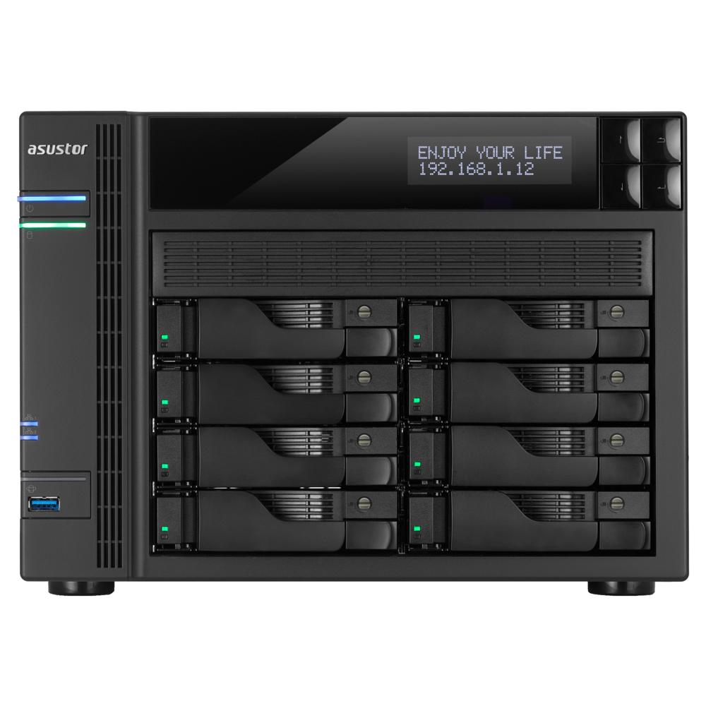 NAS Asustor AS6208T 4xGigabit 8-bay fara HDD-uri