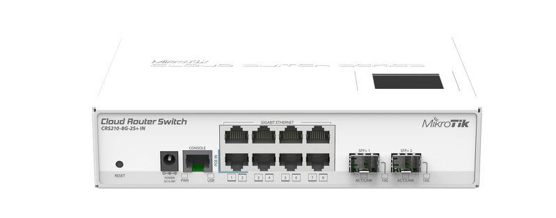 Switch Mikrotik Cloud Router CRS210-8G-2S+IN cu management cu PoE 8x1000Mbps-RJ45 + 2xSFP+