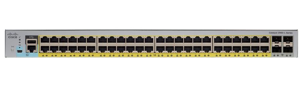 Switch Cisco Catalyst WS-C2960L-48PS-LL cu management cu PoE 48x1000Mbps-RJ45 + 4xSFP