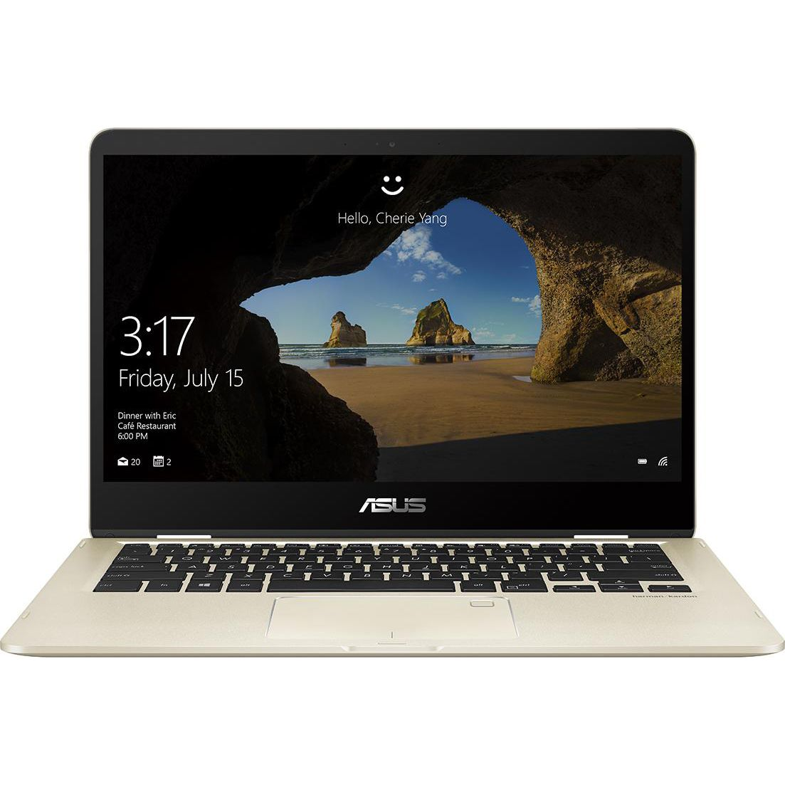 Ultrabook Asus ZenBook Flip UX461FA 14 Full HD Touch Intel Core i5-8265U RAM 8GB SSD 512GB Windows 10 Pro Auriu