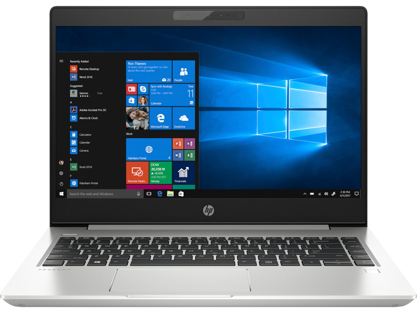 Notebook HP ProBook 440 G6 14 HD Intel Core i3-8145U RAM 4GB SSD 128GB Windows 10 Pro Argintiu