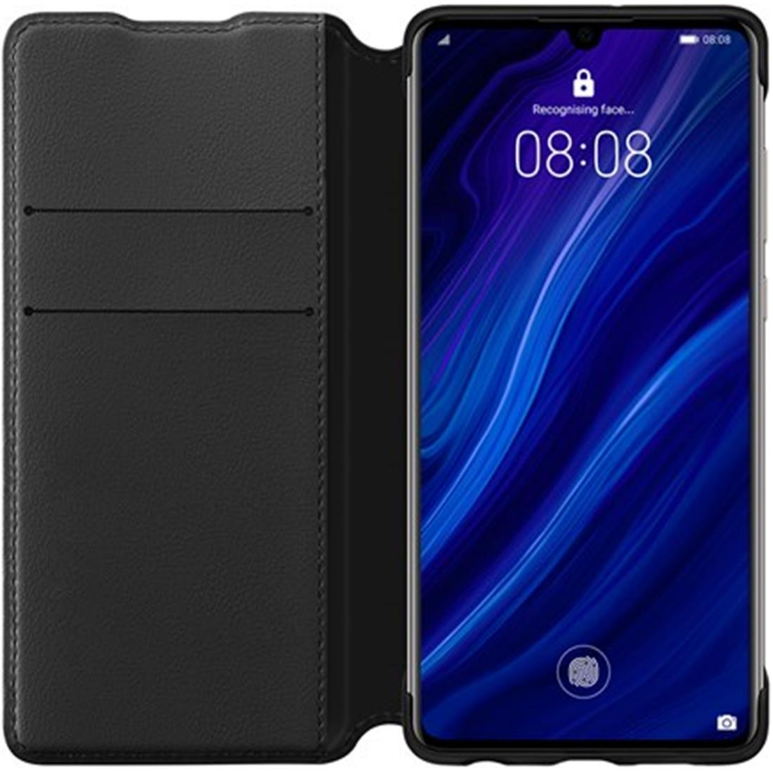 Husa Huawei Flip Wallet Cover pentru Huawei P30 Black