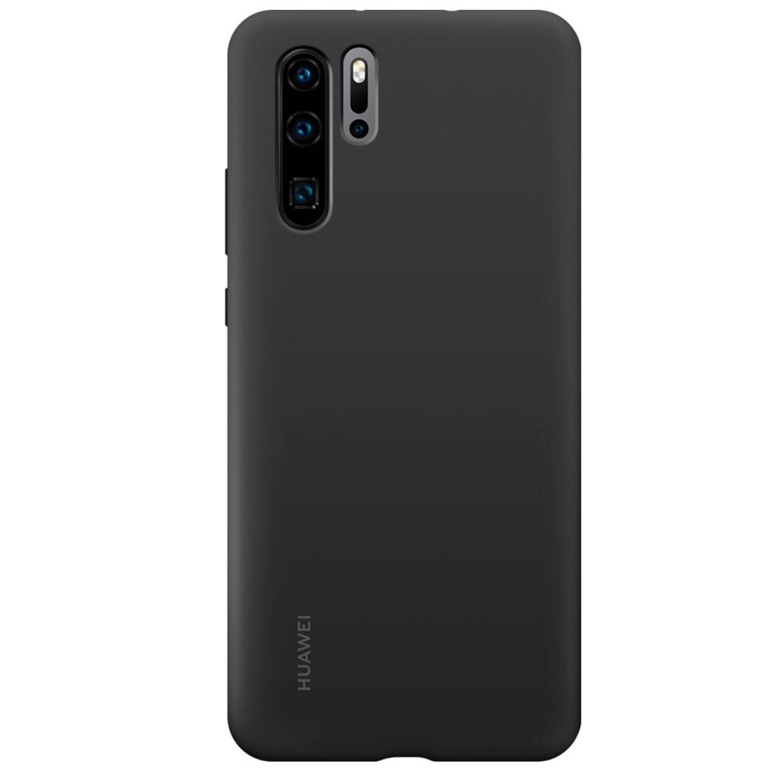 Capac protectie spate Huawei Silicone Cover pentru Huawei P30 Pro Black