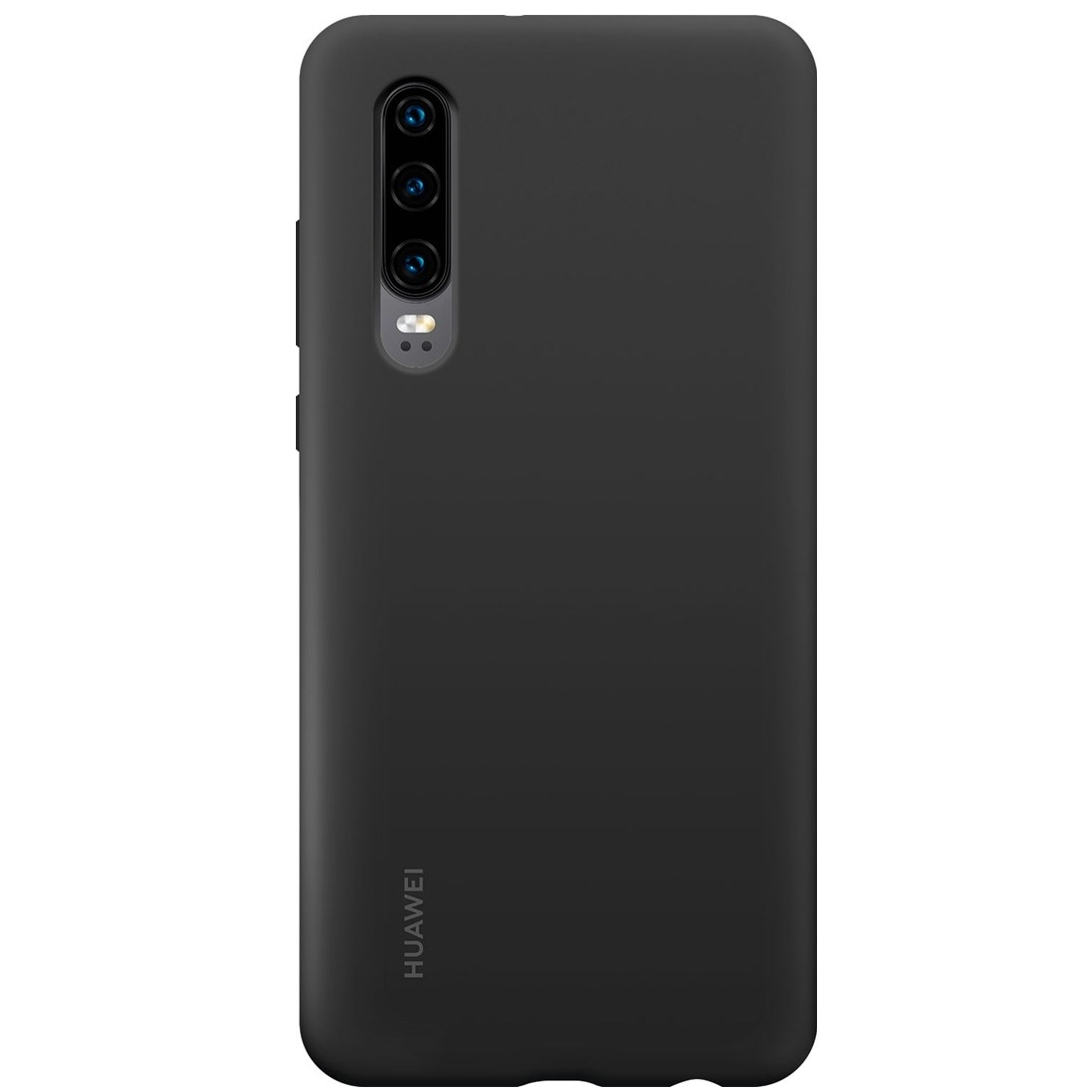 Capac protectie spate Huawei Silicone Cover pentru Huawei P30 Black