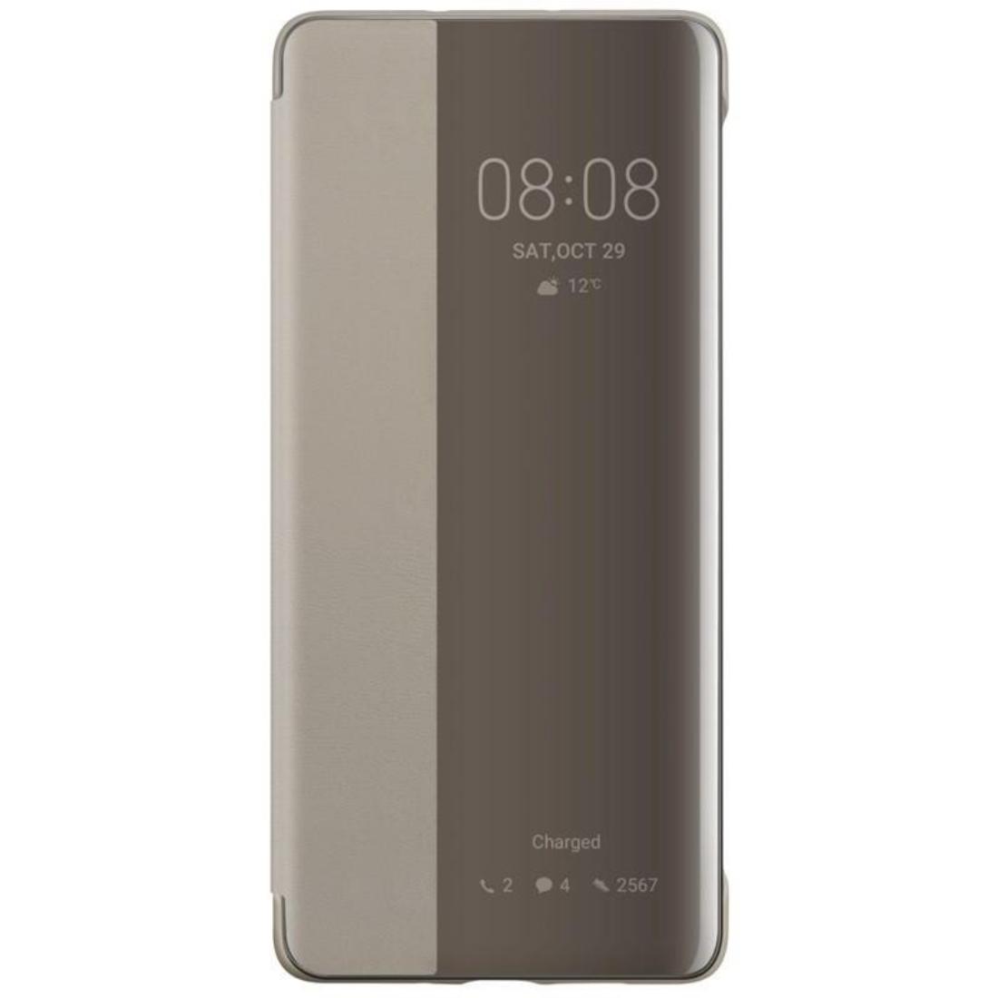 Husa Huawei Flip Smart View Cover pentru Huawei P30 Pro Kaki