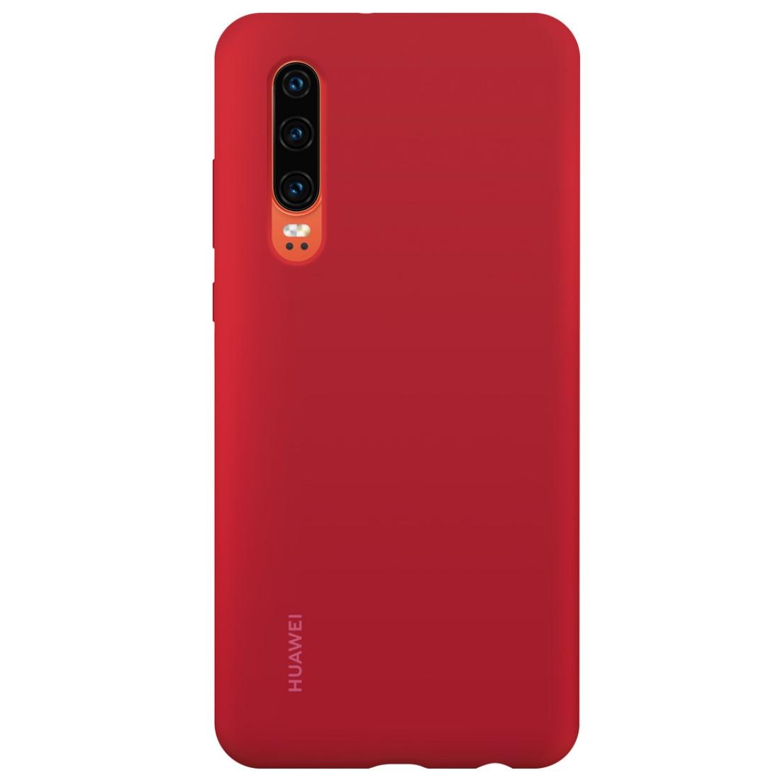 Capac protectie spate Huawei Silicone Cover pentru Huawei P30 Red