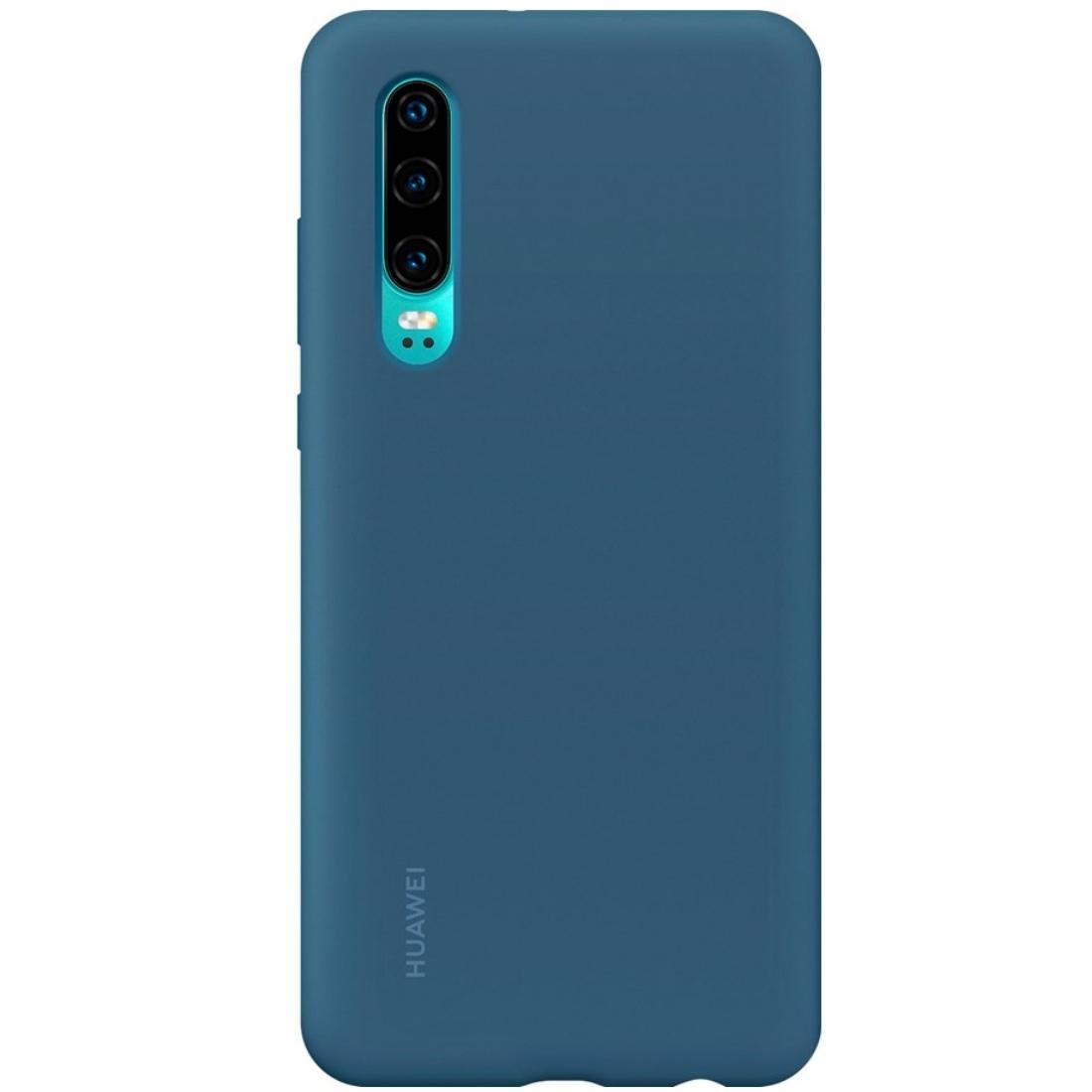 Capac protectie spate Huawei Silicone Cover pentru Huawei P30 Blue