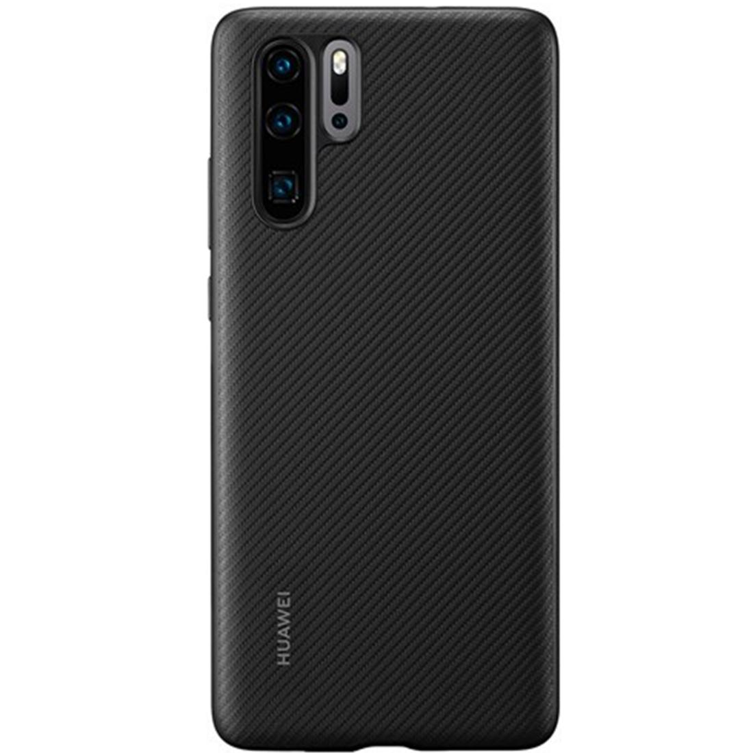 Capac protectie spate Huawei PU Cover pentru Huawei P30 Pro Black