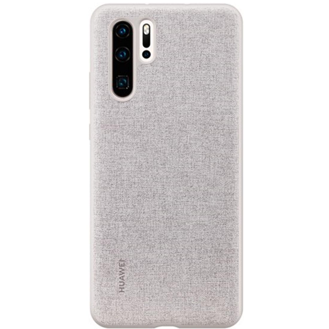 Capac protectie spate Huawei PU Cover pentru Huawei P30 Pro Elegant Gray