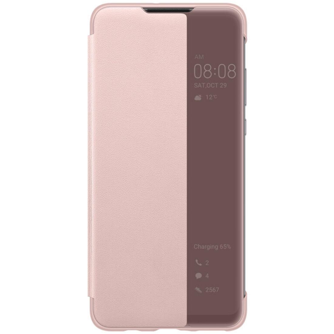 Husa Huawei Flip Smart View Cover pentru Huawei P30 Lite Pink