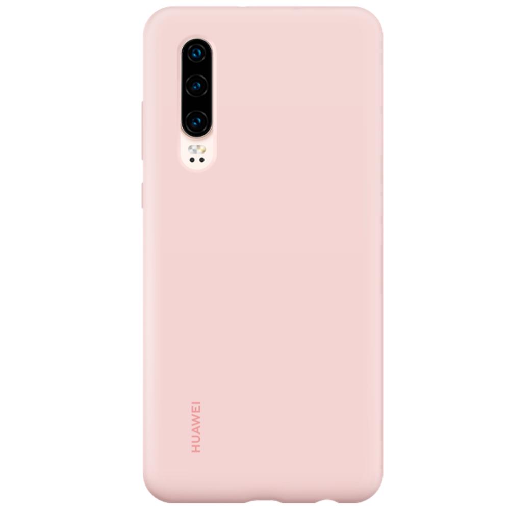 Capac protectie spate Huawei Silicone Cover pentru Huawei P30 Pink