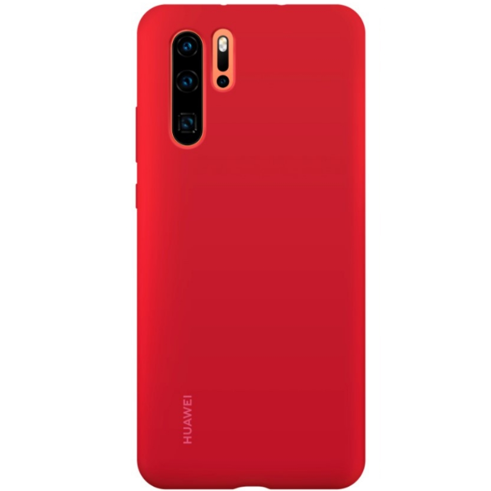 Capac protectie spate Huawei Silicone Cover pentru Huawei P30 Pro Red