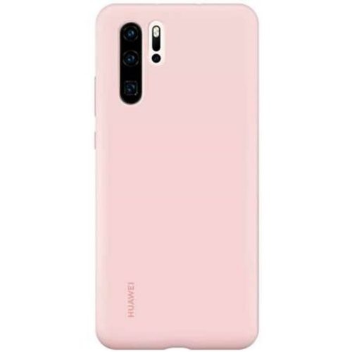 Capac protectie spate Huawei Silicone Cover pentru Huawei P30 Pro Pink