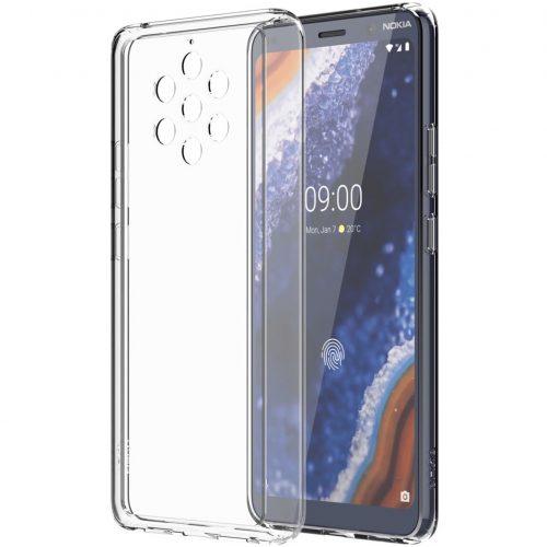 Capac protectie spate Premium Clear Case pentru Nokia 9 PureView Transparent