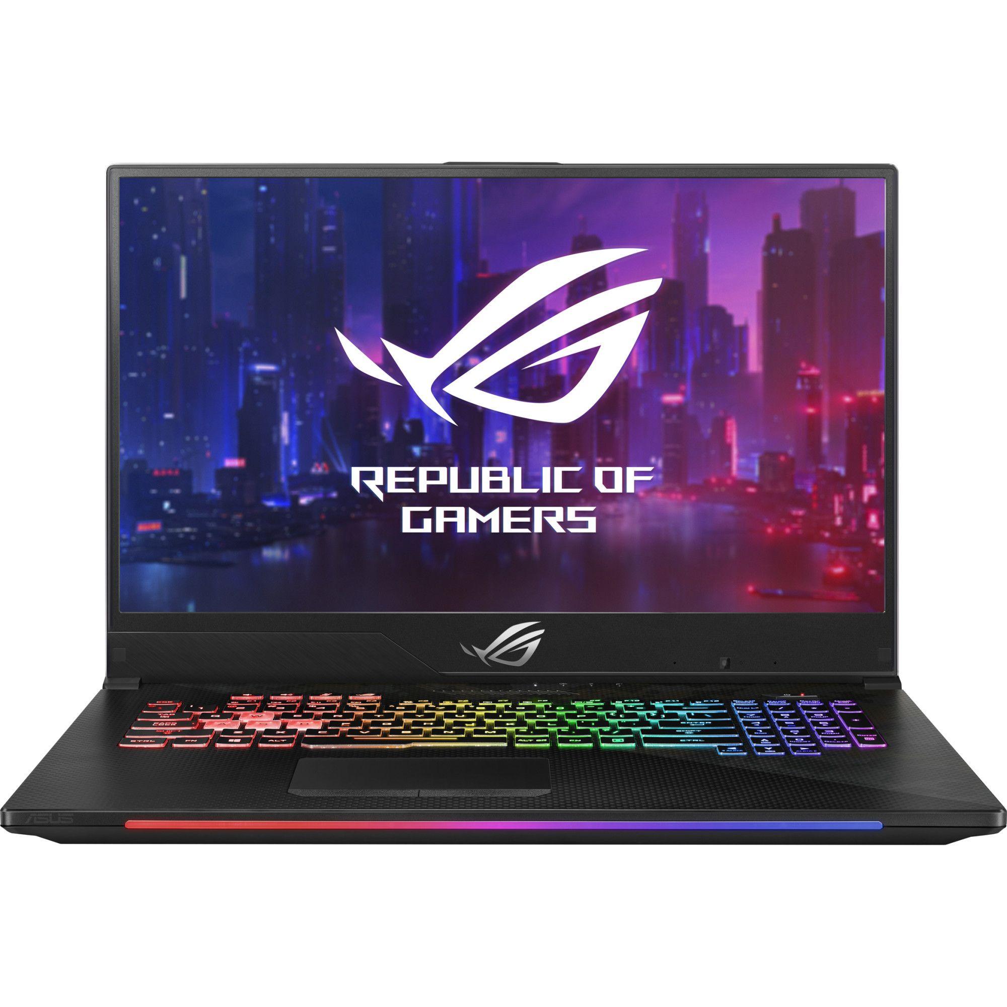 Notebook Asus ROG STRIX GL704GM 17.3 Full HD Intel Core i7-8750H GTX 1060-6GB RAM 8GB HDD 1TB + SSD 256GB No OS Negru