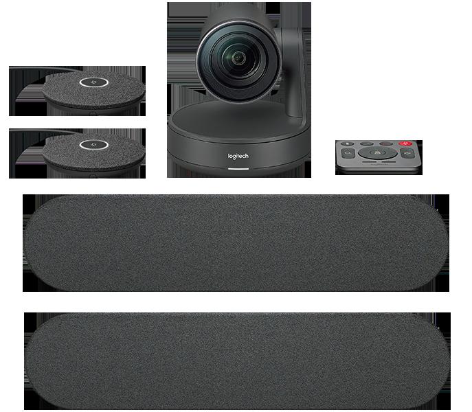 Sistem Videoconferinta Logitech Rally Ultra-HD ConferenceCam Dual Speaker
