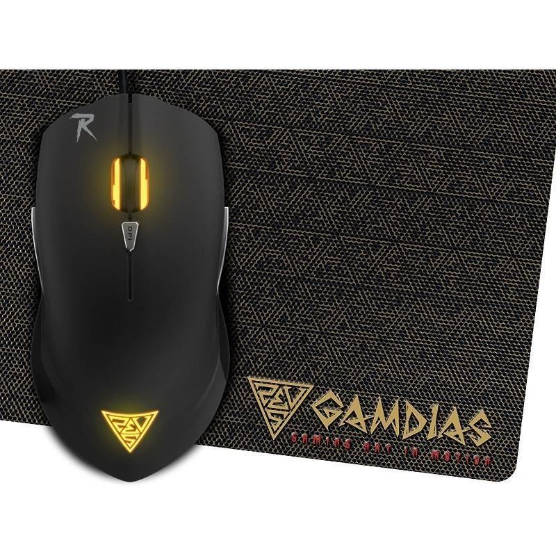 Mouse Gaming Gamdias Ourea E1 + Mousepad Nyx E1