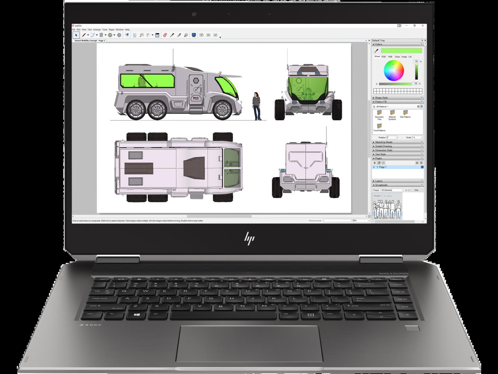 Notebook HP ZBook x360 Studio G5 15.6 Full HD Intel Core i7-8750H RAM 8GB SSD 256GB Windows 10 Pro