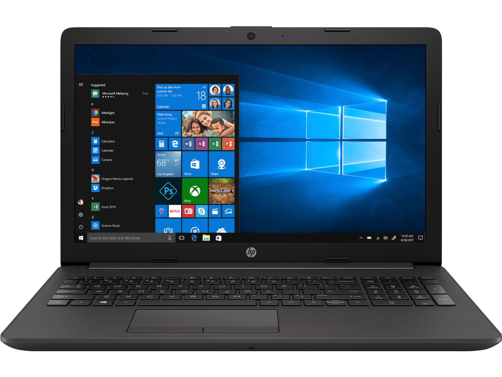 Notebook HP 250 G7 15.6 Full HD Intel Core i5-8265U MX110-2GB RAM 4GB SSD 256GB FreeDOS Negru