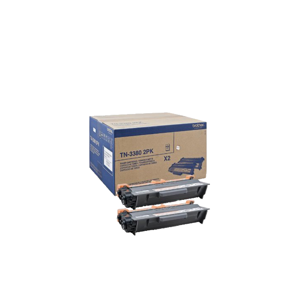 Set Toner Brother TN-3380 TWIN 2x8000 pagini Black