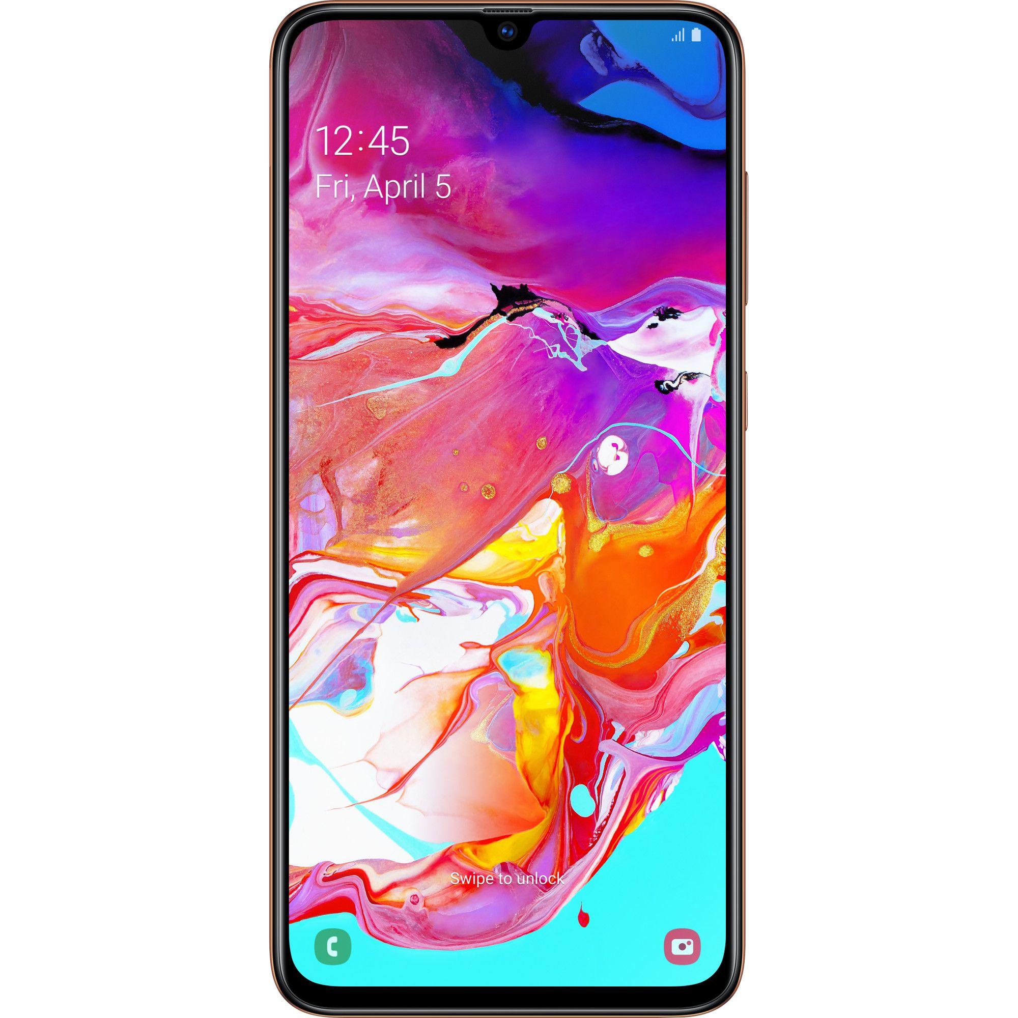 Telefon Mobil Samsung Galaxy A70 128GB Flash 6GB RAM Dual SIM 4G Coral
