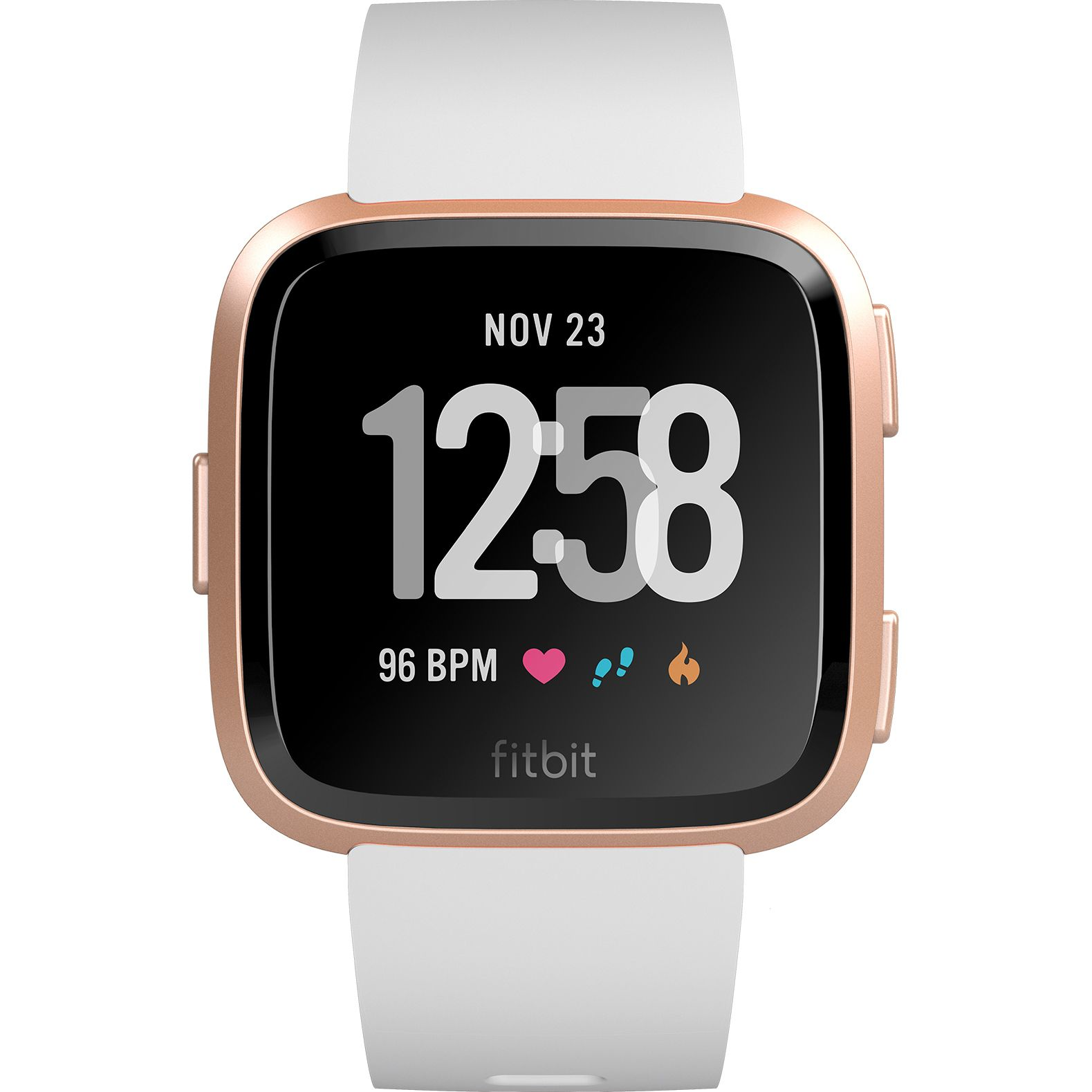 Smartwatch Fitbit Versa (NFC) - White Band / Rose Gold Case