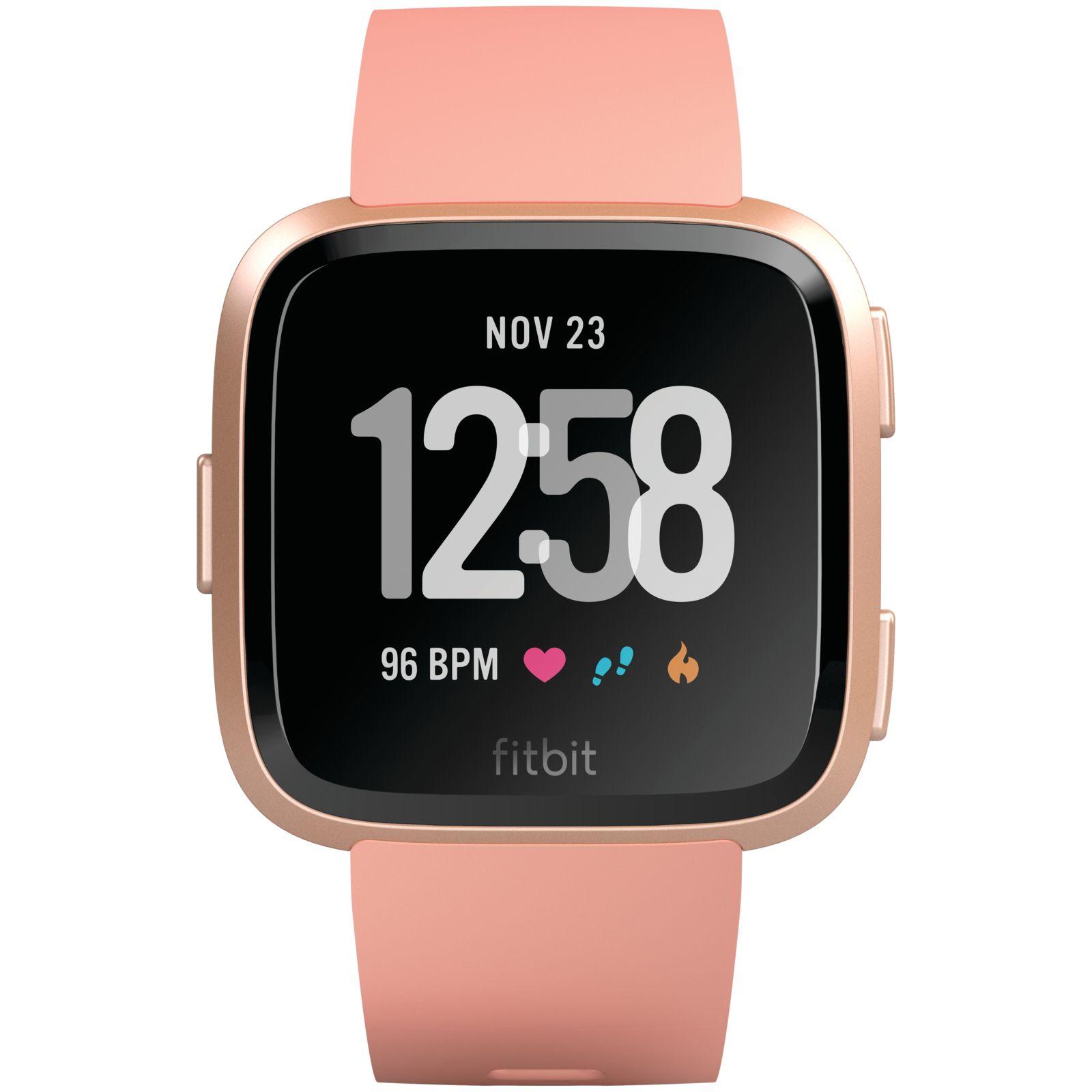 Smartwatch Fitbit Versa (NFC) - Peach / Rose Gold Aluminum