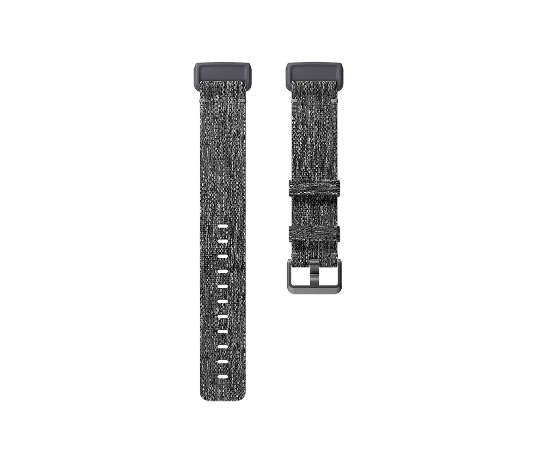 Curea Fitbit pentru Charge 3 Woven Band Large Charcoal