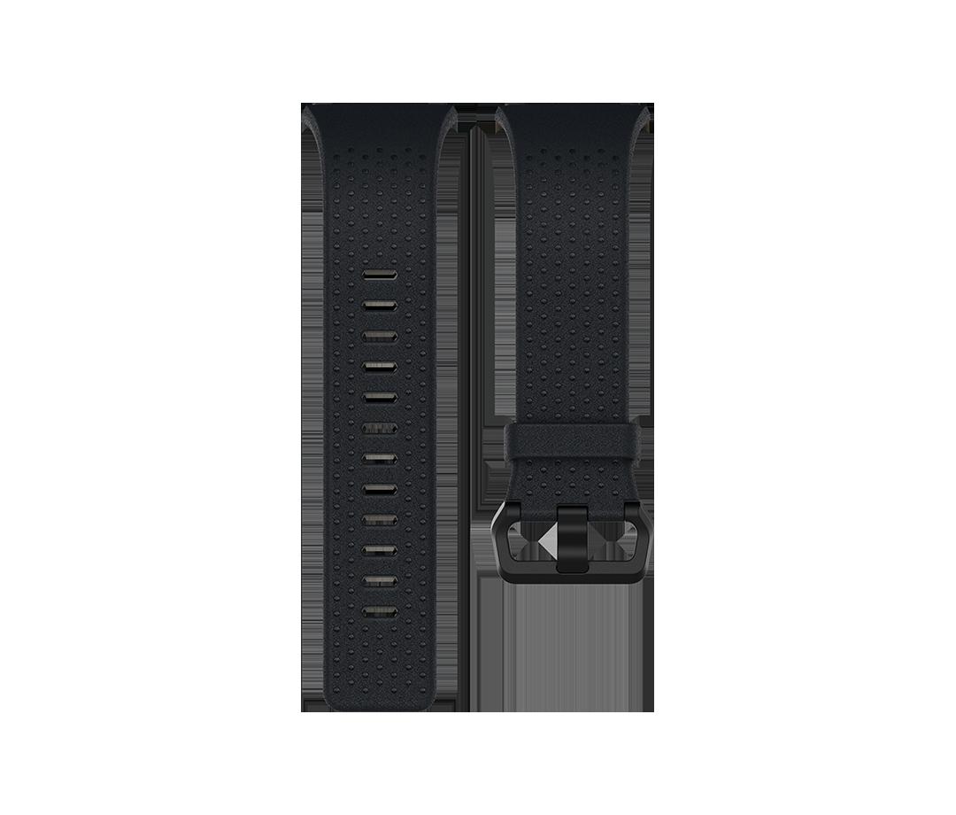 Curea Fitbit pentru Ionic Perforated Leather Band Large Midnight Blue