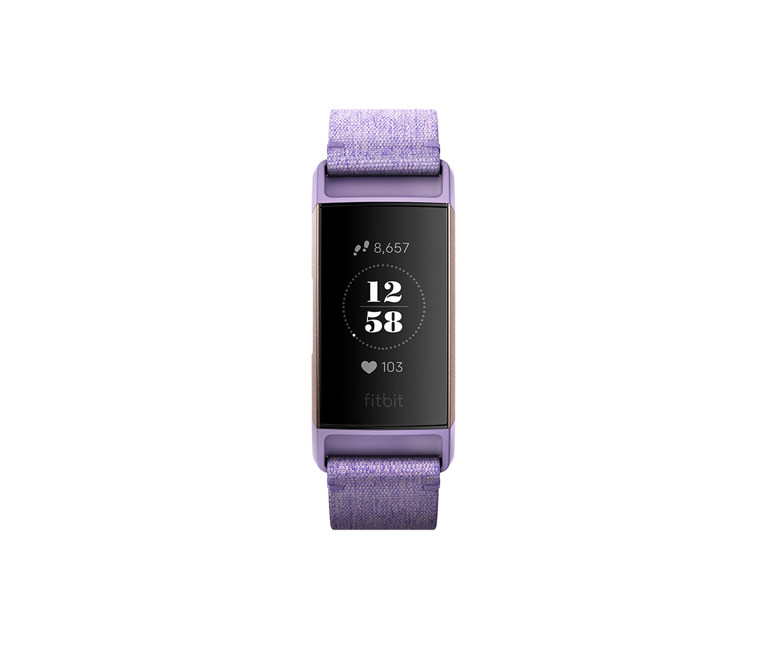 Bratara Fitness Fitbit Charge 3 Special Edition (NFC) - Lavender Woven