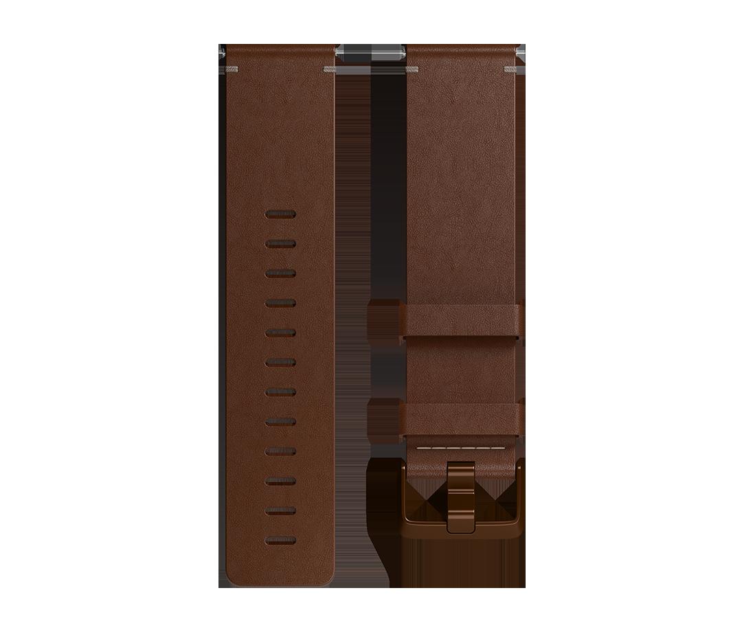Curea Fitbit pentru Versa Leather Band Large Cognac