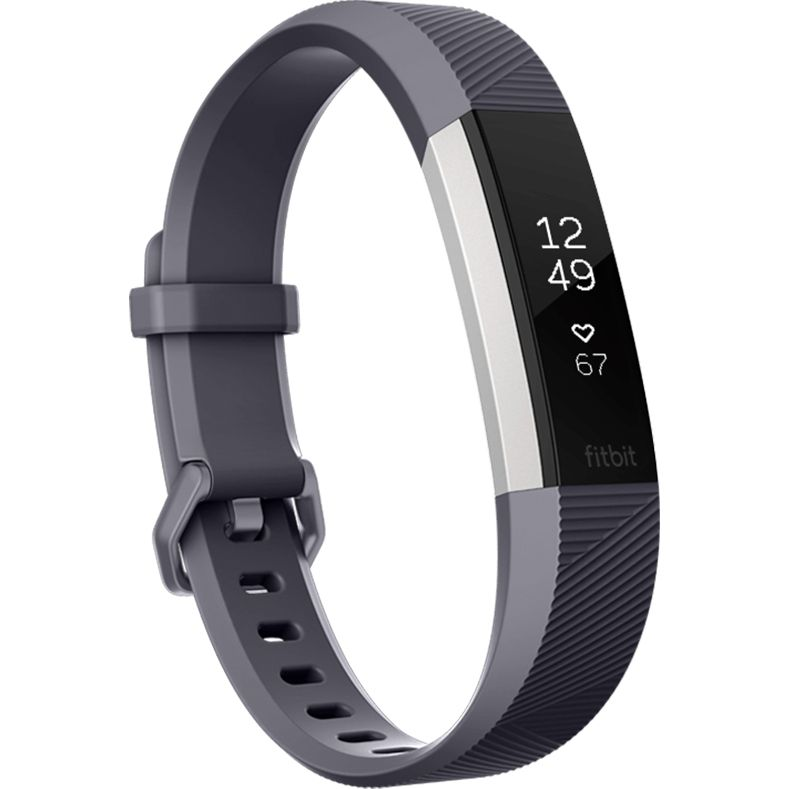 Bratara Fitness Fitbit Alta HR Large Blue Gray