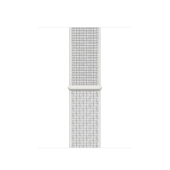 Curea Smartwatch Apple pentru Apple Watch Series 4 40mm Nike Band: Summit White Nike Sport Loop
