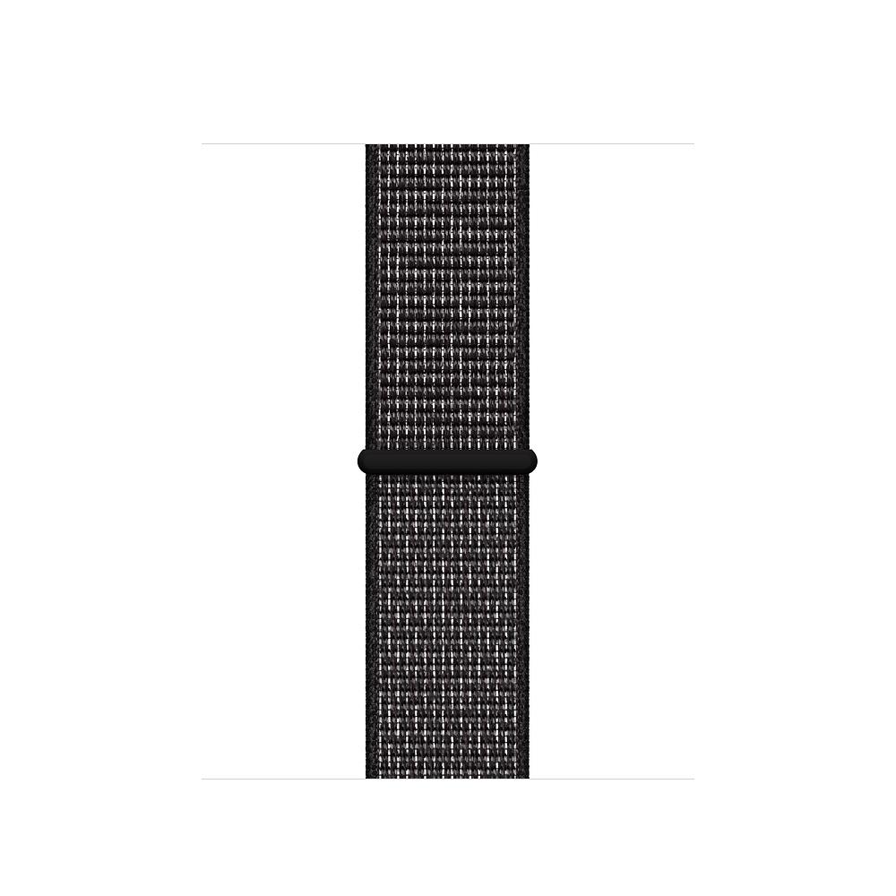Curea Smartwatch Apple pentru Apple Watch Series 4 44mm Nike Band: Black Nike Sport Loop
